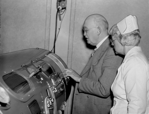 Inspecting an Iron Lung