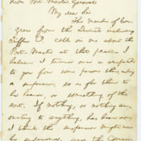 21. Lincoln to U.S. Postmaster General Montgomery Blair on postmaster for Tiffin, Ohio