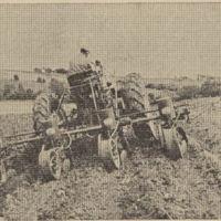Four-row lister, planting corn on a terrace