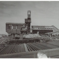 Shuler Mine with Railroad Ties and Rails