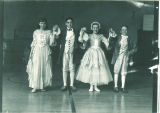 School children performing minuet, The University of Iowa, March 4, 1949