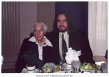 Louise Noun and her grandson, Jason Flora at her 90th birthday fund-raiser, Des Moines, Iowa, March 1998