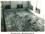 Swim practice, The University of Iowa, 1930s