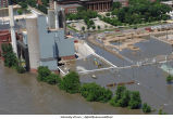 Aerial photographs of Power Plant flooding, The University of Iowa, June 16, 2008