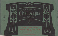 1924 Fairfield Chautauqua program