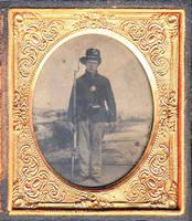 [Tintype of Pospisil, John (Jan), 1839?- , in Civil War uniform.]