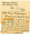 300 war prisoners work on seed corn