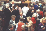 Crowd at opening of the Iowa Women's Archives, The University of Iowa, 1991