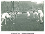Field hockey drill, The University of Iowa, 1930s