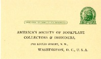 American Society of Bookplate Collectors & Designers Postcard