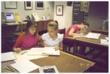 Students at Iowa Women's Archives, Iowa City, Iowa, ca. 2003