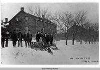 In winter, High, Iowa High Amana, Iowa 1910s