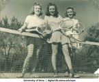 Tennis players, The University of Iowa, 1950s