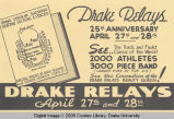 Drake Relays Promotional Flyer, 1934
