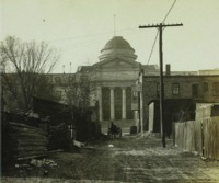 View of alley leading to State Historical Building