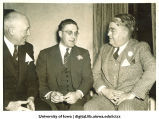 Sumner B. Chase, V. Craven Shuttleworth and Bert B. Burnquist at reunion, The University of Iowa, 1940s