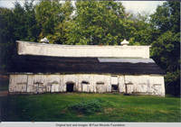 Pre-restoration view of Hog shed