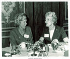 Mary Louise Smith speaking with colleague at Marriott Twin Bridges Motor Hotel, Arlington, Va., 1974