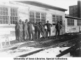Cadets at Engineering shop, The University of Iowa, 1918