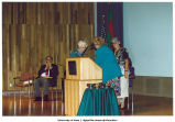 Louise Noun receiving the Christine Wilson Medal for Equality and Justice, Iowa, August 25, 1993