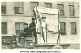 Uncle Sam and Bolshevik in Mecca Day parade, The University of Iowa, 1920