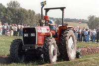 World Grassland Plowing competition, Sweden competing, World Ag Expo, Amana, Iowa, September 7-10, 1988