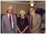 Louise Noun, Gilbert Cranberg and Victor Navasky at Nation's 125th anniversary dinner, Des Moines, Iowa, September 1990