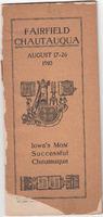 1910 Fairfield Chautauqua program