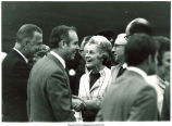 Mary Louise Smith with Vice Pres. Spiro Agnew, Gov. Robert Ray, and Charles Wittenmeyer, between 1969-1973