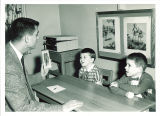 Speech therapy class with Mr. Neeley, The University of Iowa, December 12, 1958