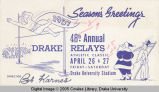 Drake Relays Promotional Post Card, 1958