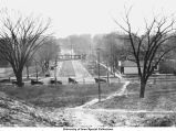 View from Pentacrest looking east on Iowa Avenue, The University of Iowa, 1910s