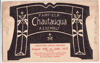 1923 Fairfield Chautauqua program
