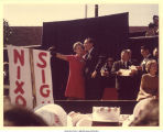 Mary Louise Smith with Richard Nixon at a rally, October 1968