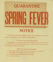 Quarantine: spring fever