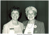 Gwen Boeke and Mary Louise Smith at political event, Iowa, 1984