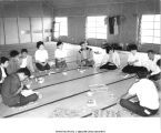 """Tokko"", educational retreat for non-members, Yamagishi Kai commune, Mie-ken, Japan, 1965"