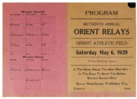 Orient, Iowa Relays - May 6,1939
