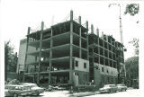 Construction on original section of Van Allen Hall, The University of Iowa, July 1964