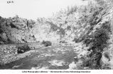 Railroad along stream in Boulder Creek Canyon, Colo., late 1890s or early 1900s