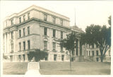 Southeast corner of Hall of Liberal Arts (now Schaeffer Hall), The University of Iowa, 1920s?