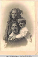 Viola Burden with two children