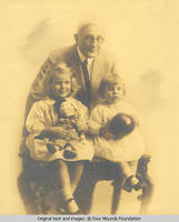 George A.Burden with granddaughters
