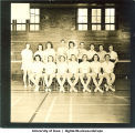 Badminton class in gymnasium, The University of Iowa, 1930s
