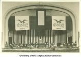 Natural Science Auditorium decorated for Foundation Day, The University of Iowa, February 25, 1918