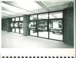 Special Collections corridor display cases in Main Library, the University of Iowa, 1972