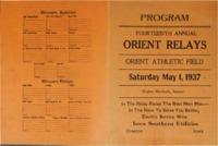 Orient, Iowa Relays - 1937