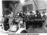 Cadets in Automotive Chassis Department, The University of Iowa, 1918
