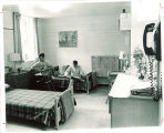 Students in dorm room in Hillcrest Hall, the University of Iowa, 1965