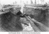 Open pit mine, Iowa, late 1890s or early 1900s